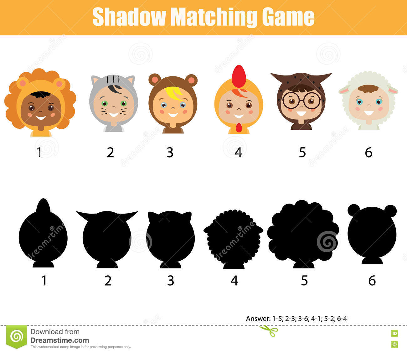 Shadow Matching Game Find The Correct Shadow Kids