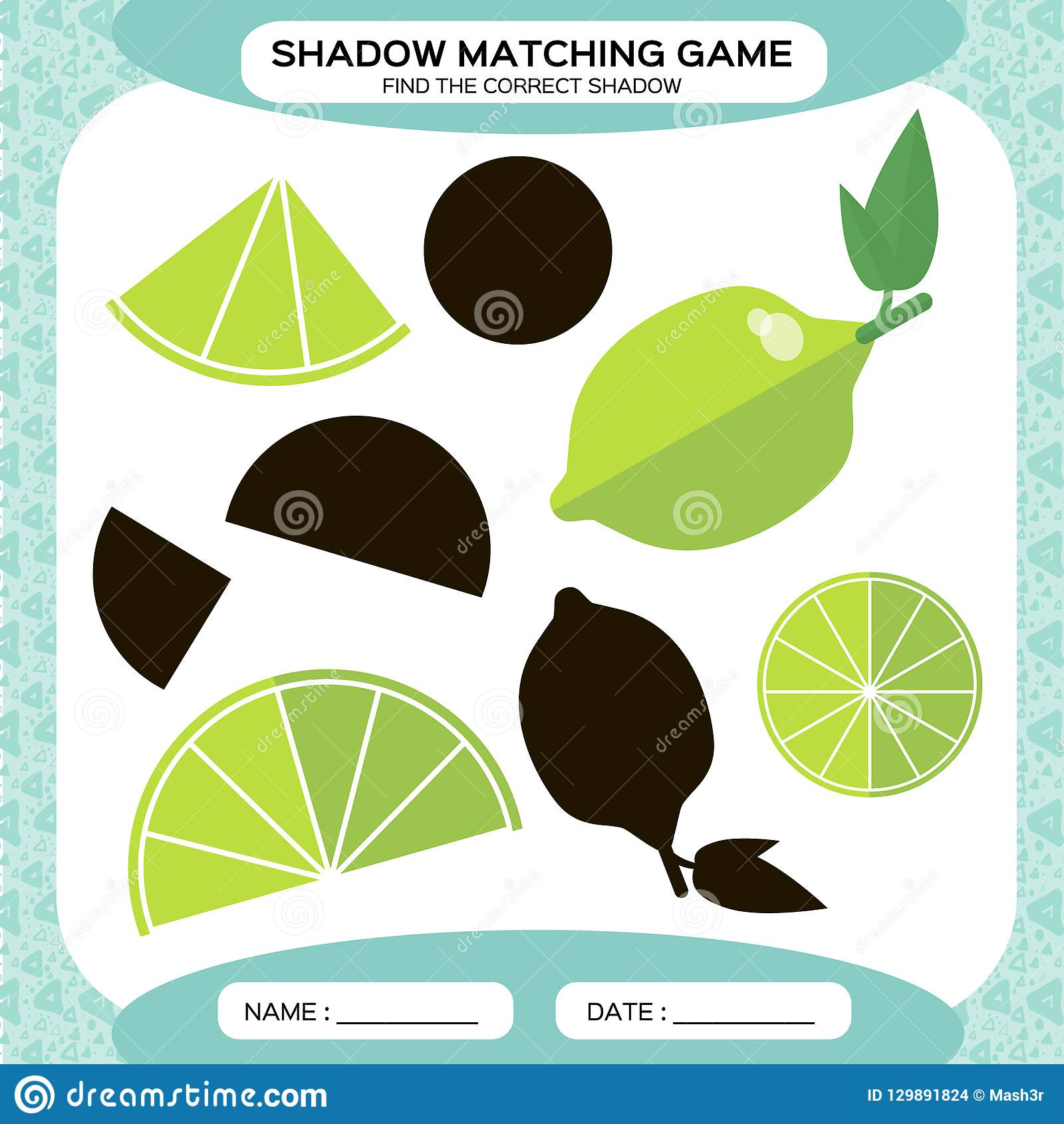 Shadow Matching Game Find The Correct Shadows Activity
