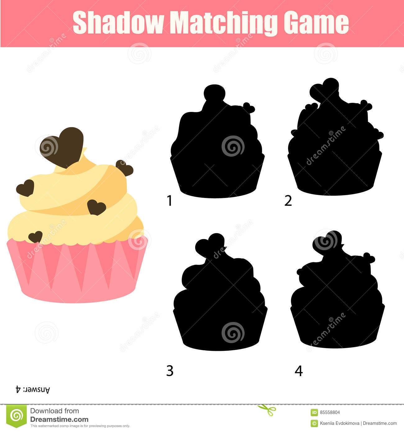 Shadow Matching Game Find The Correct Silhouette For