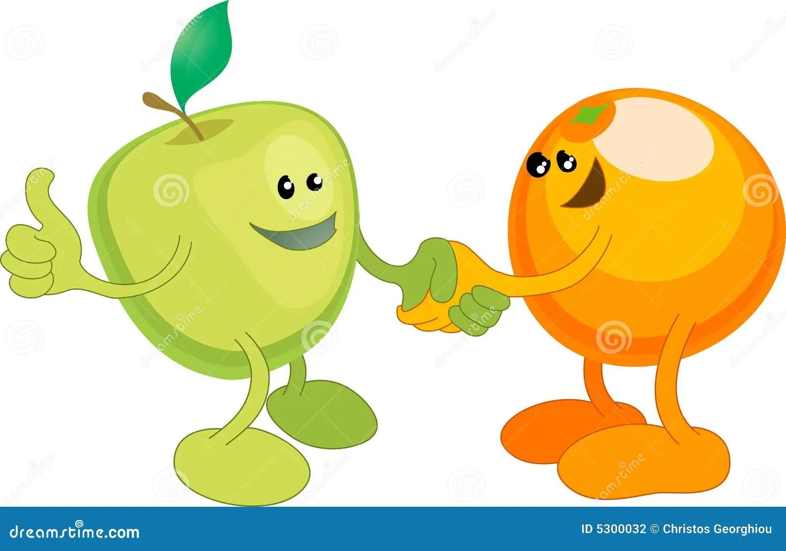 Shaki De Apple Y De La Naranja Feliz Fotografia De Archivo
