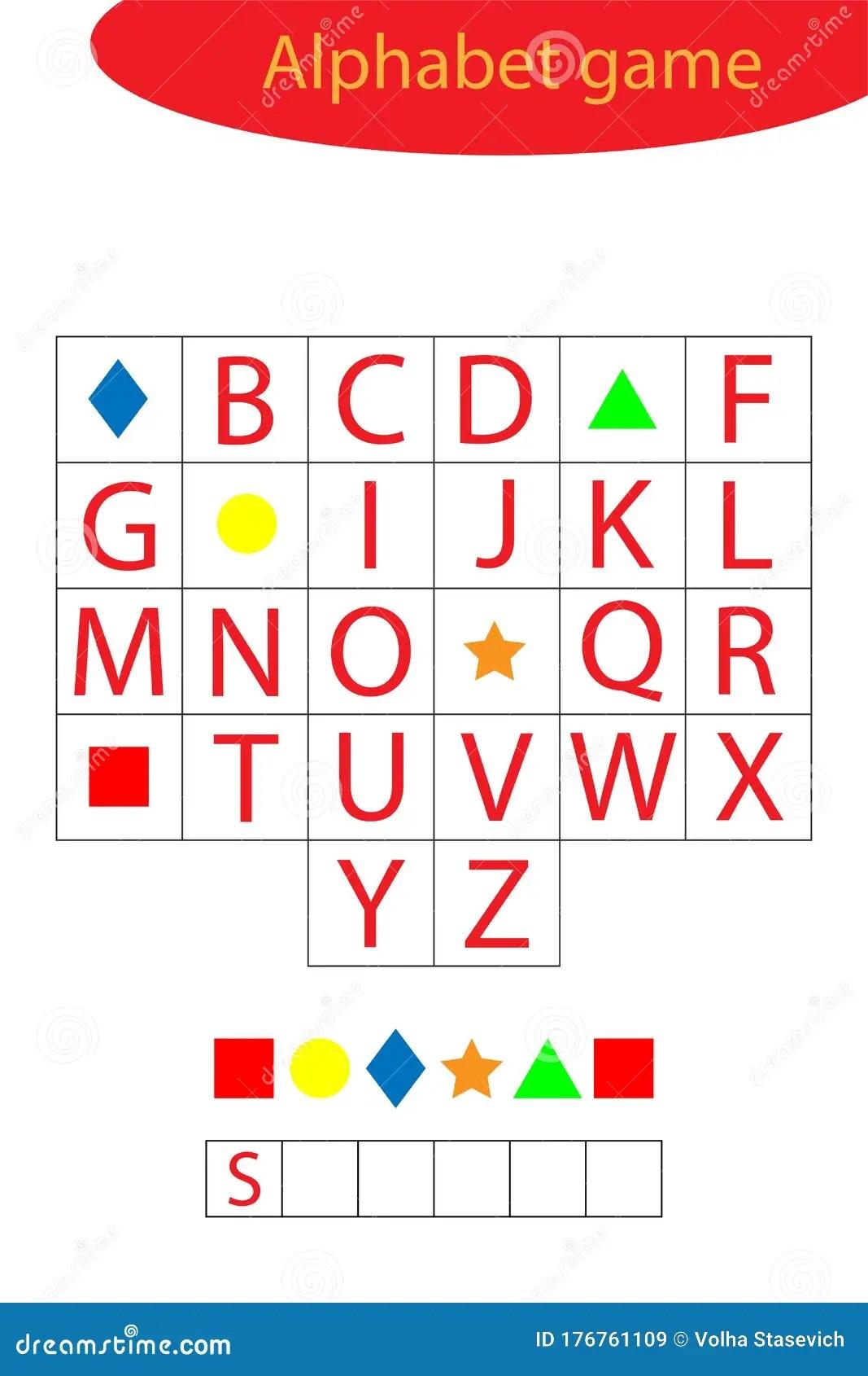 Shapes Alphabet Game For Children Make A Word Preschool