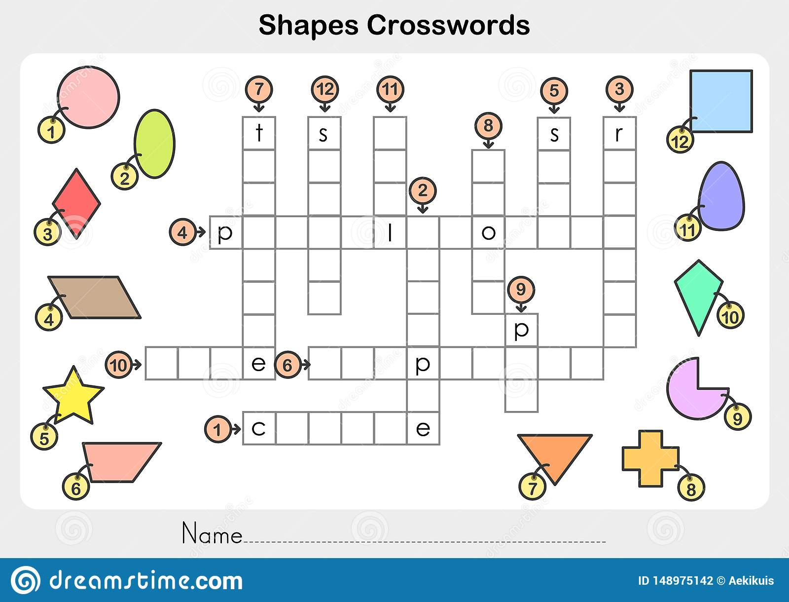 Shapes Crosswords
