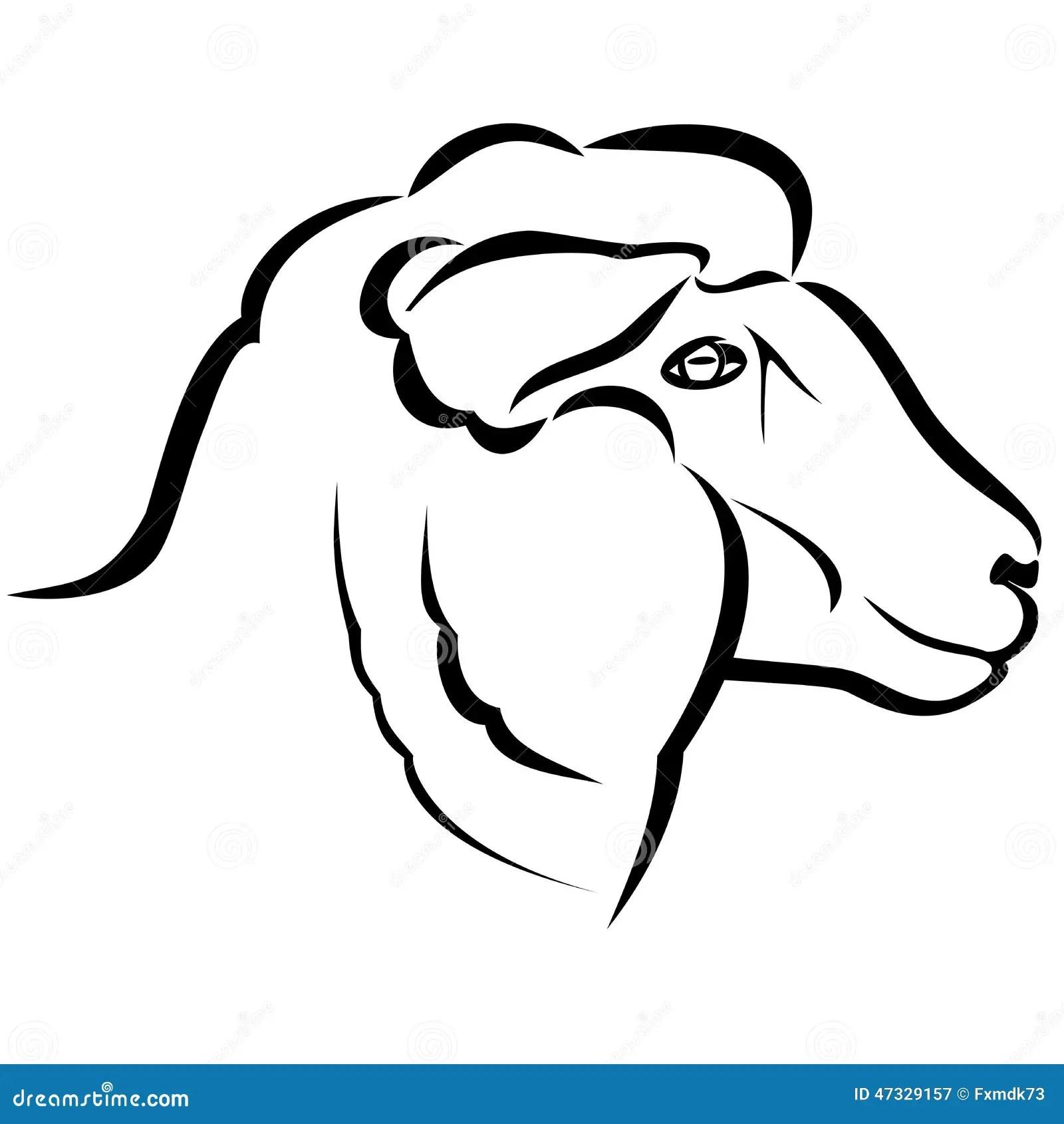 Sheep Head Stock Vector