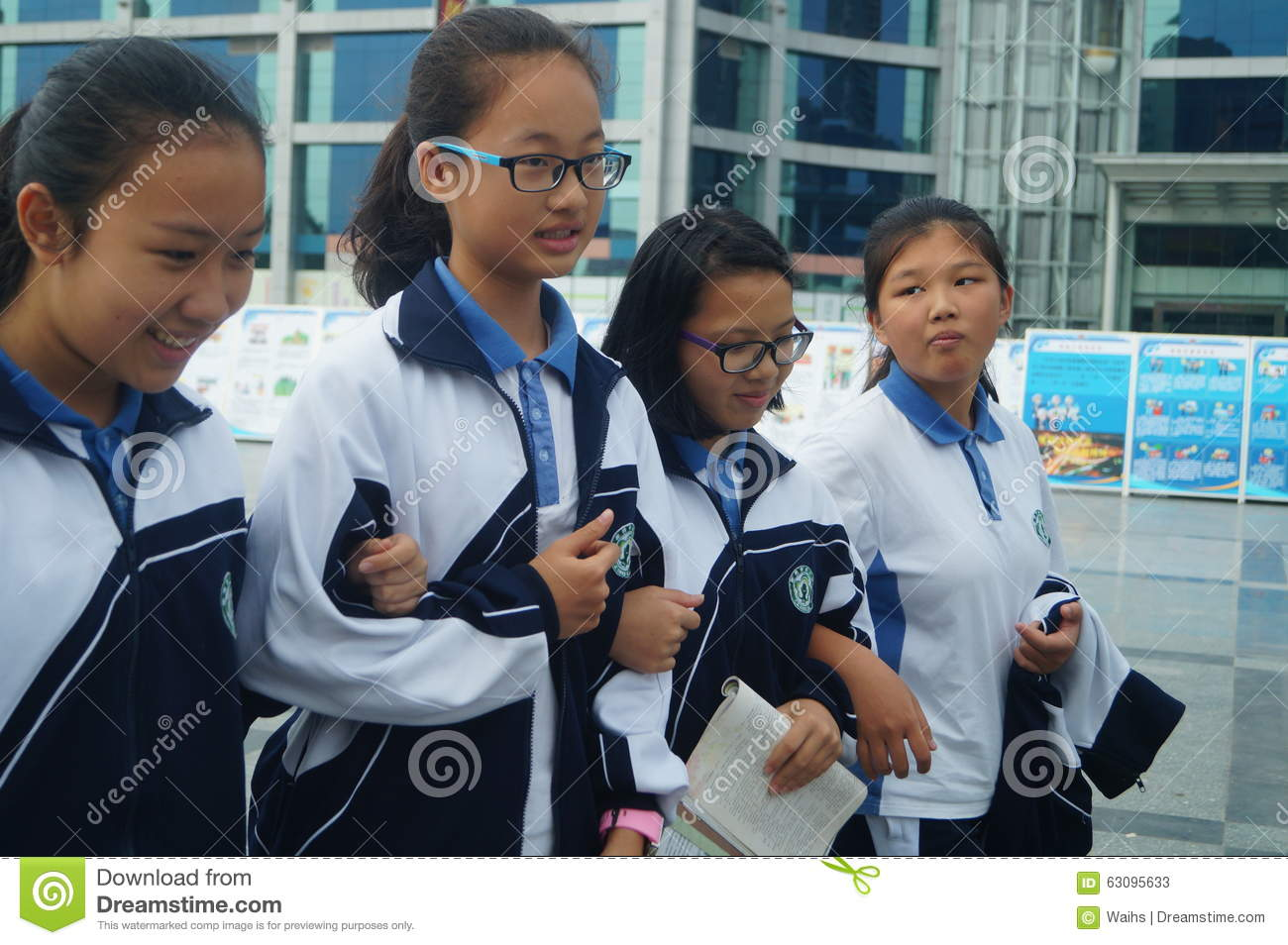 Shenzhen China High School Students Home From School