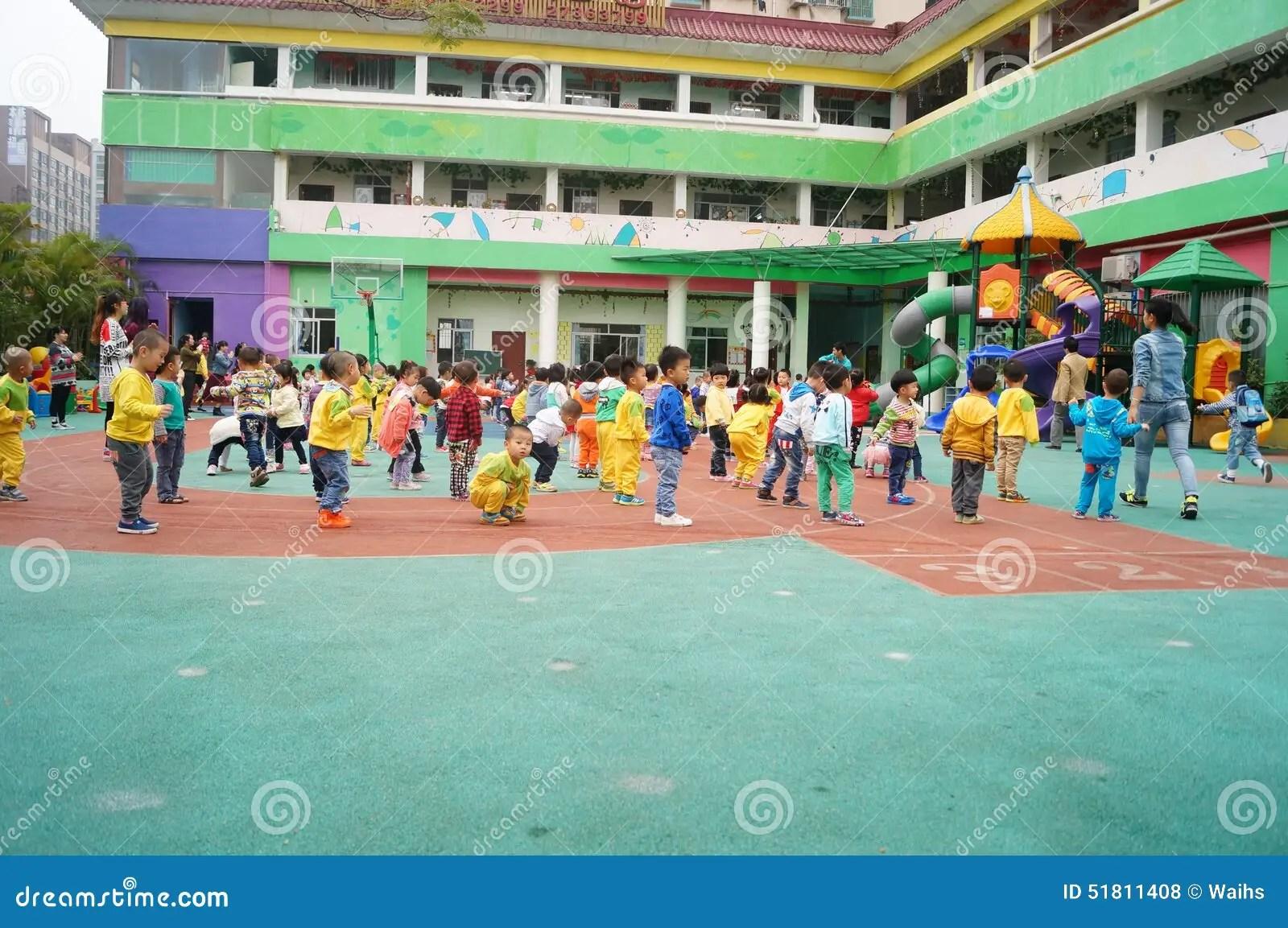 Shenzhen China Kindergarten Playground Children In
