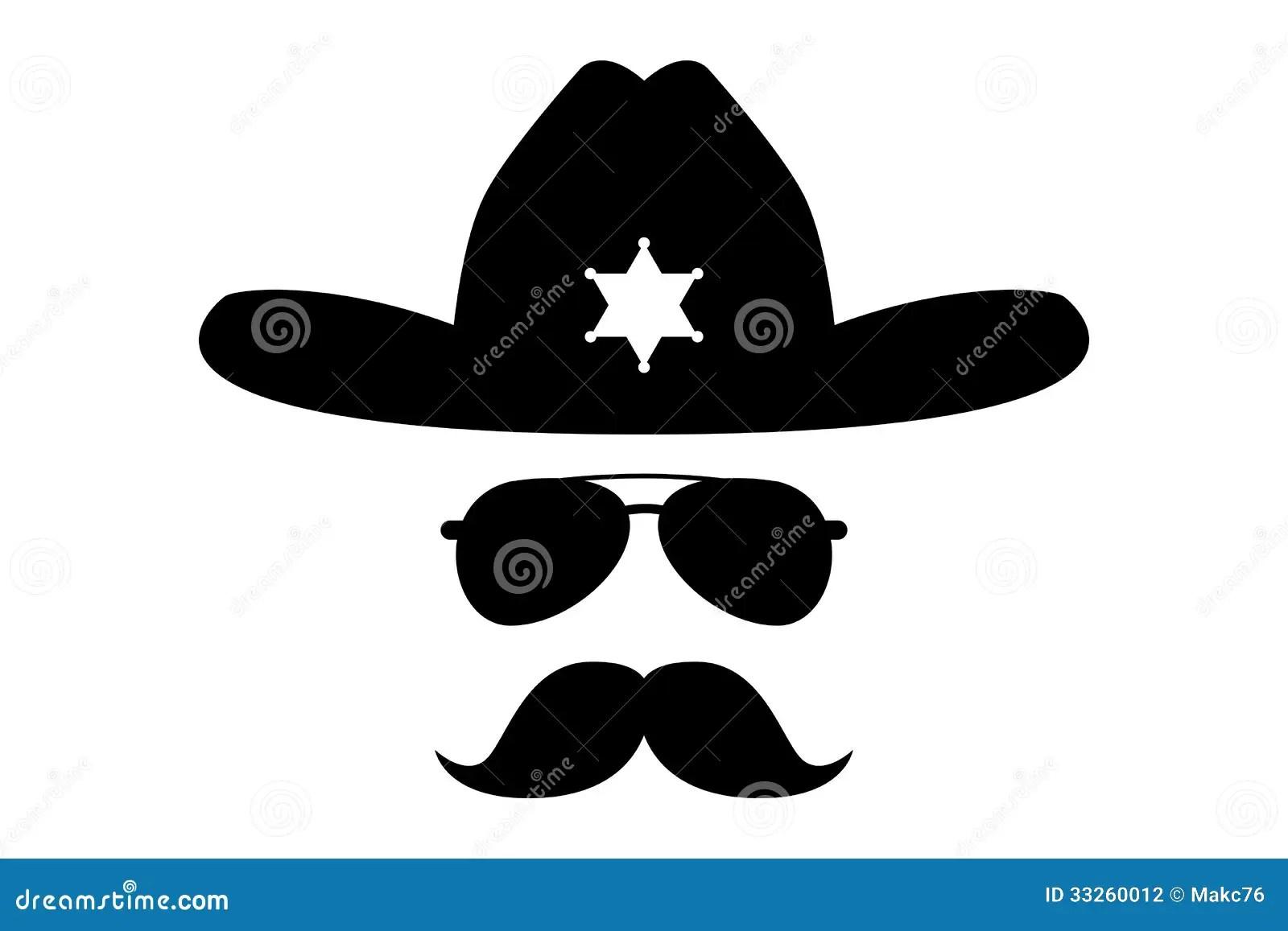 Sheriff With Bushy Mustache Stock Photography Image