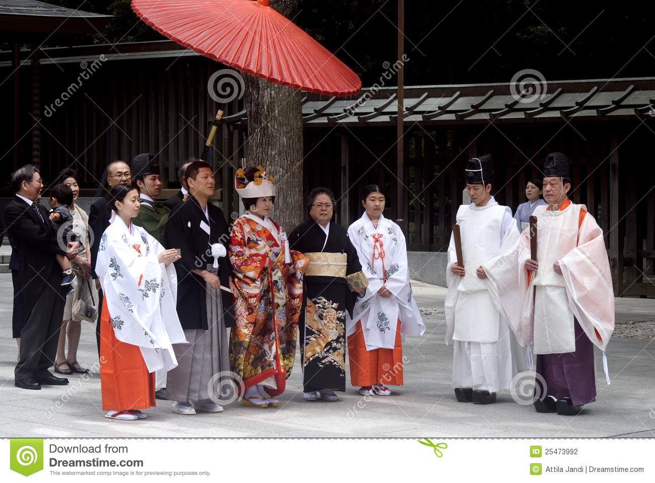 Shinto Wedding Tokyo Japan Editorial Photography Image
