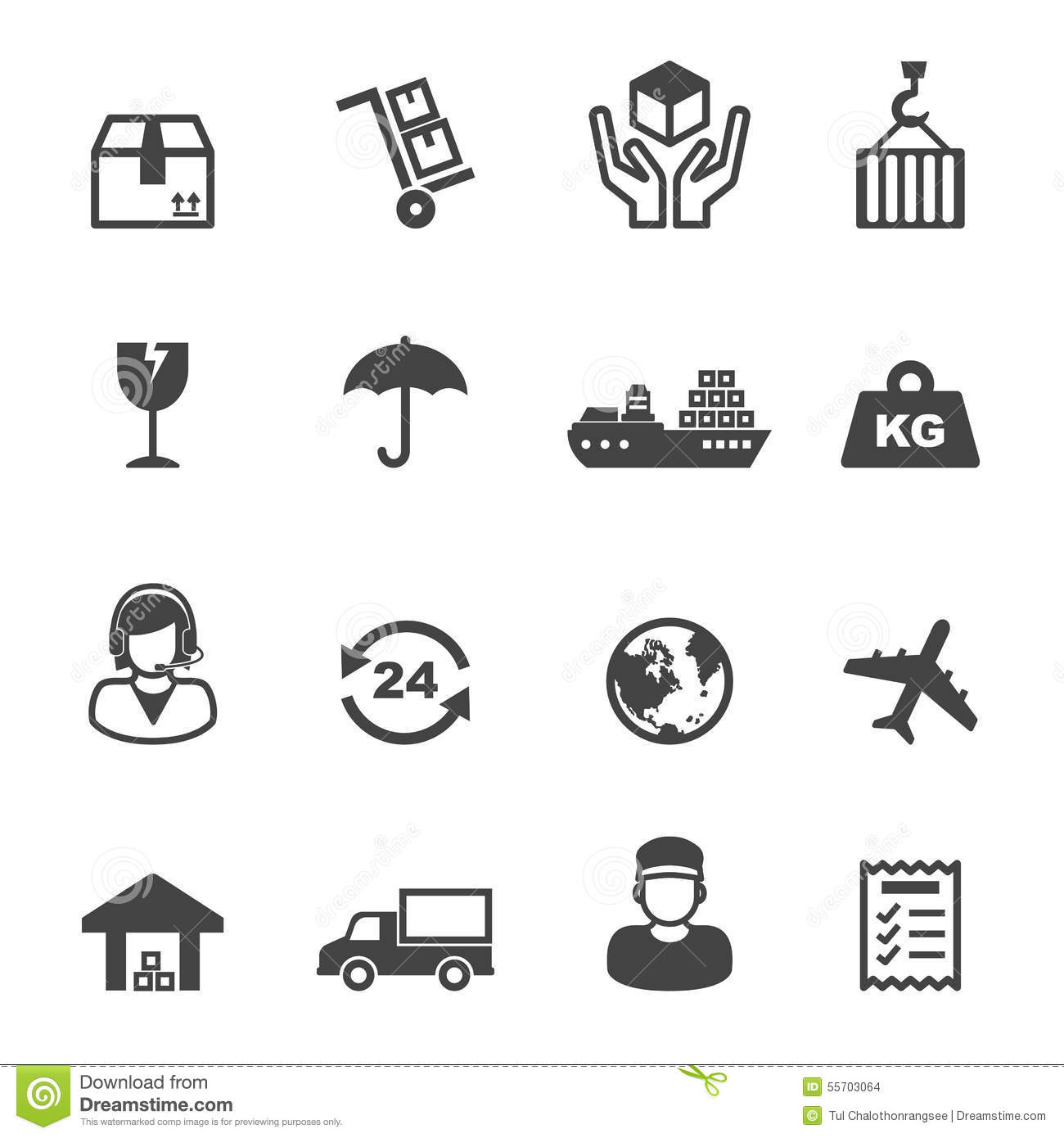 Shipping Icons Stock Vector