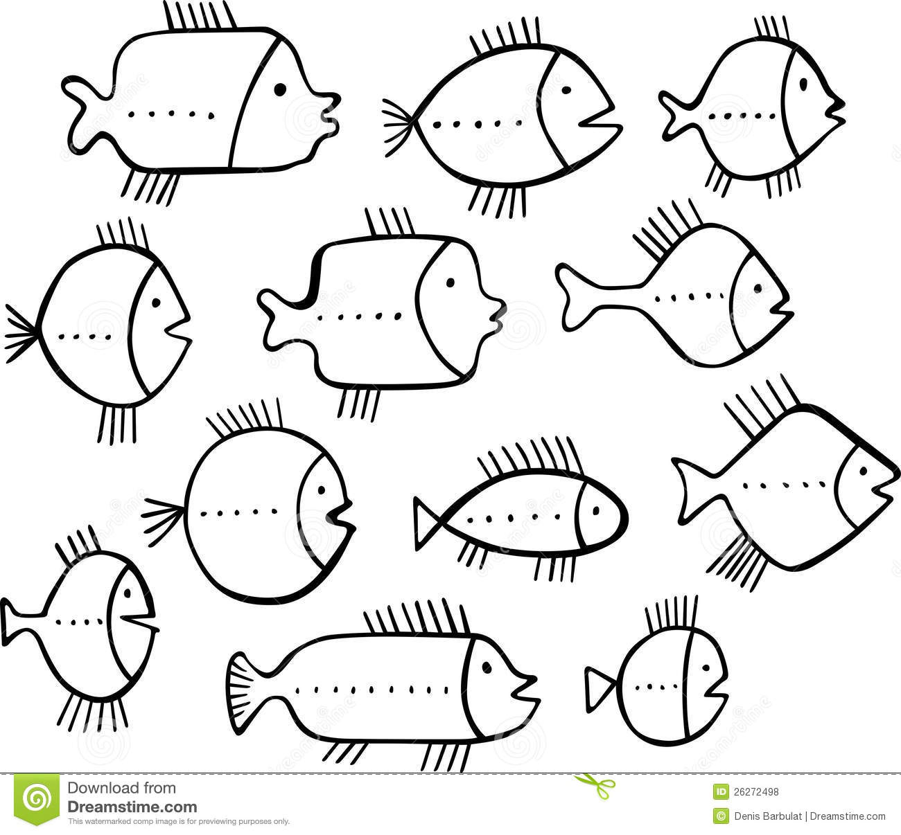 Shoal Of Fishes Stock Vector Illustration Of School