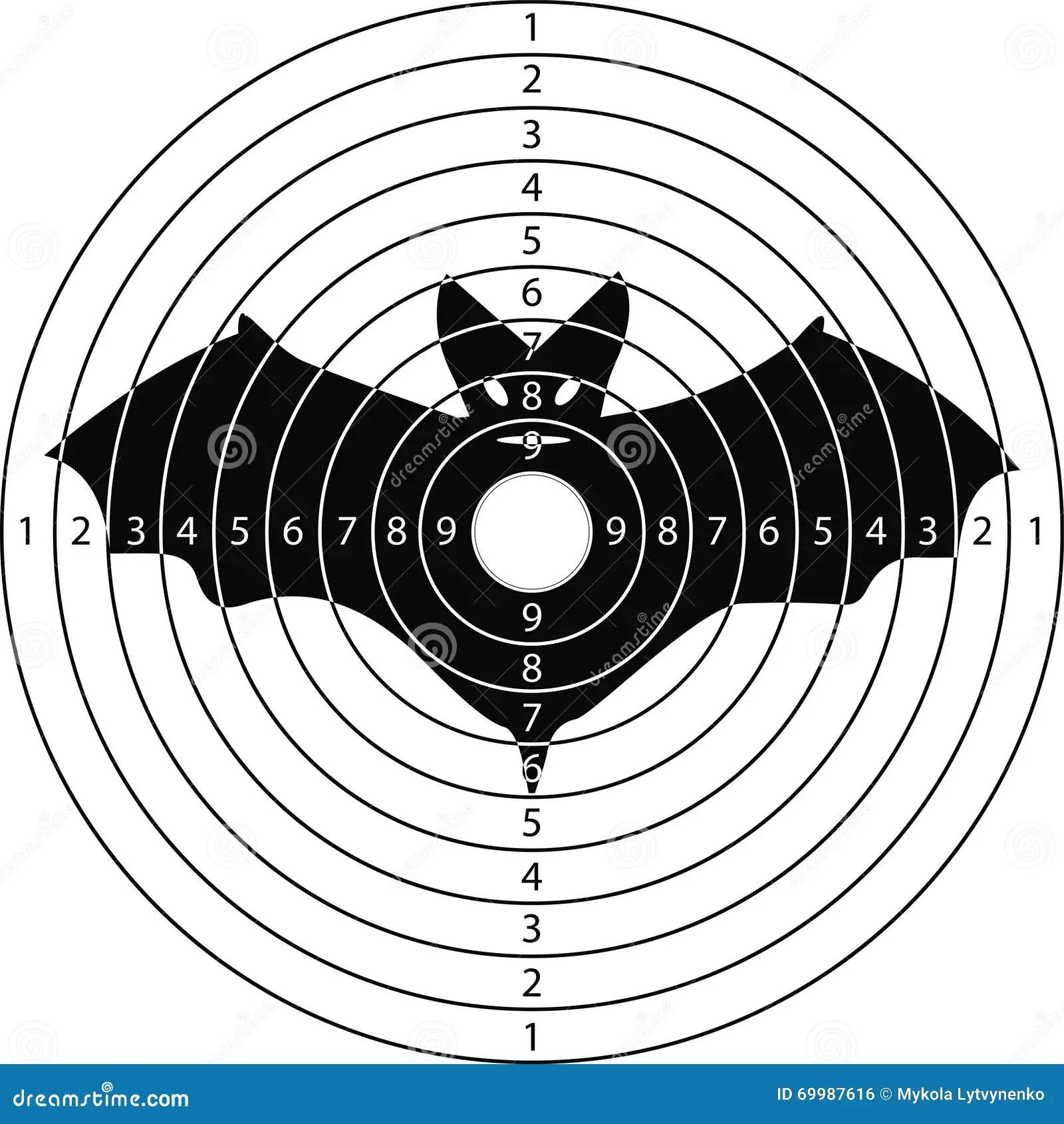 Shooting Target Bat Stock Vector Illustration Of Retro