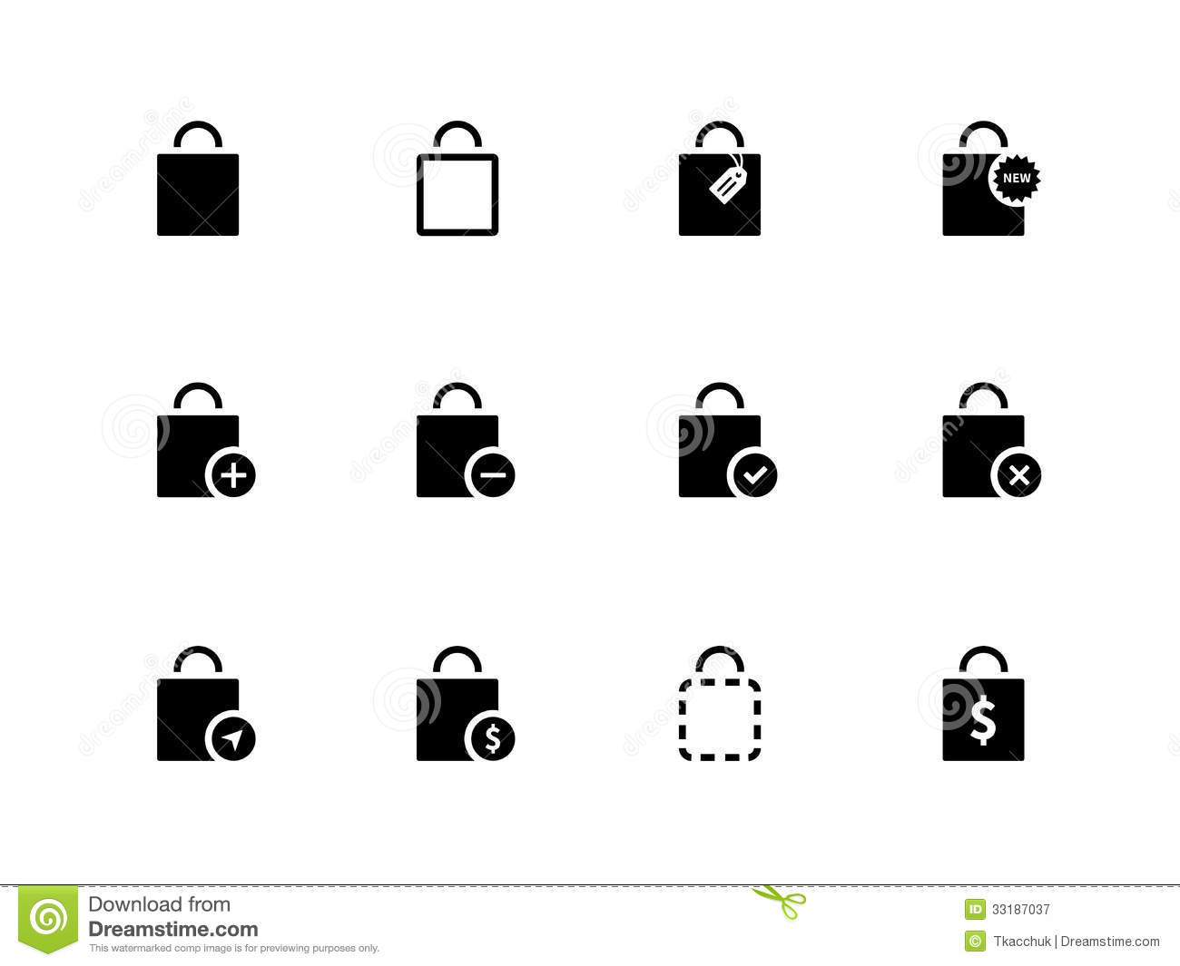 Shopping Bag Icons On White Background Royalty Free Stock