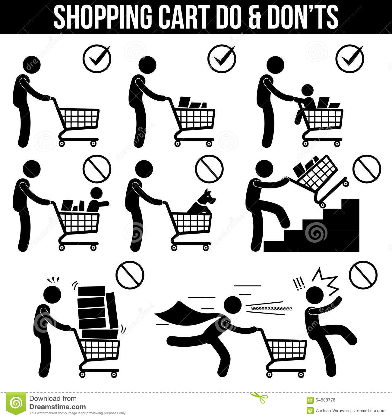 Royalty Free Stock Image Shopping Cart Trolley Dos And