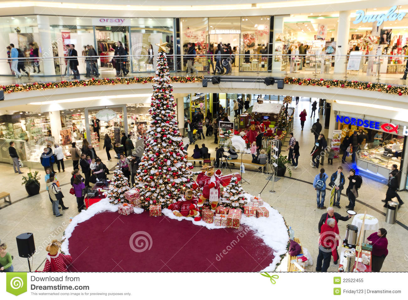 Shopping Centre At Christmas Time Editorial Image Image