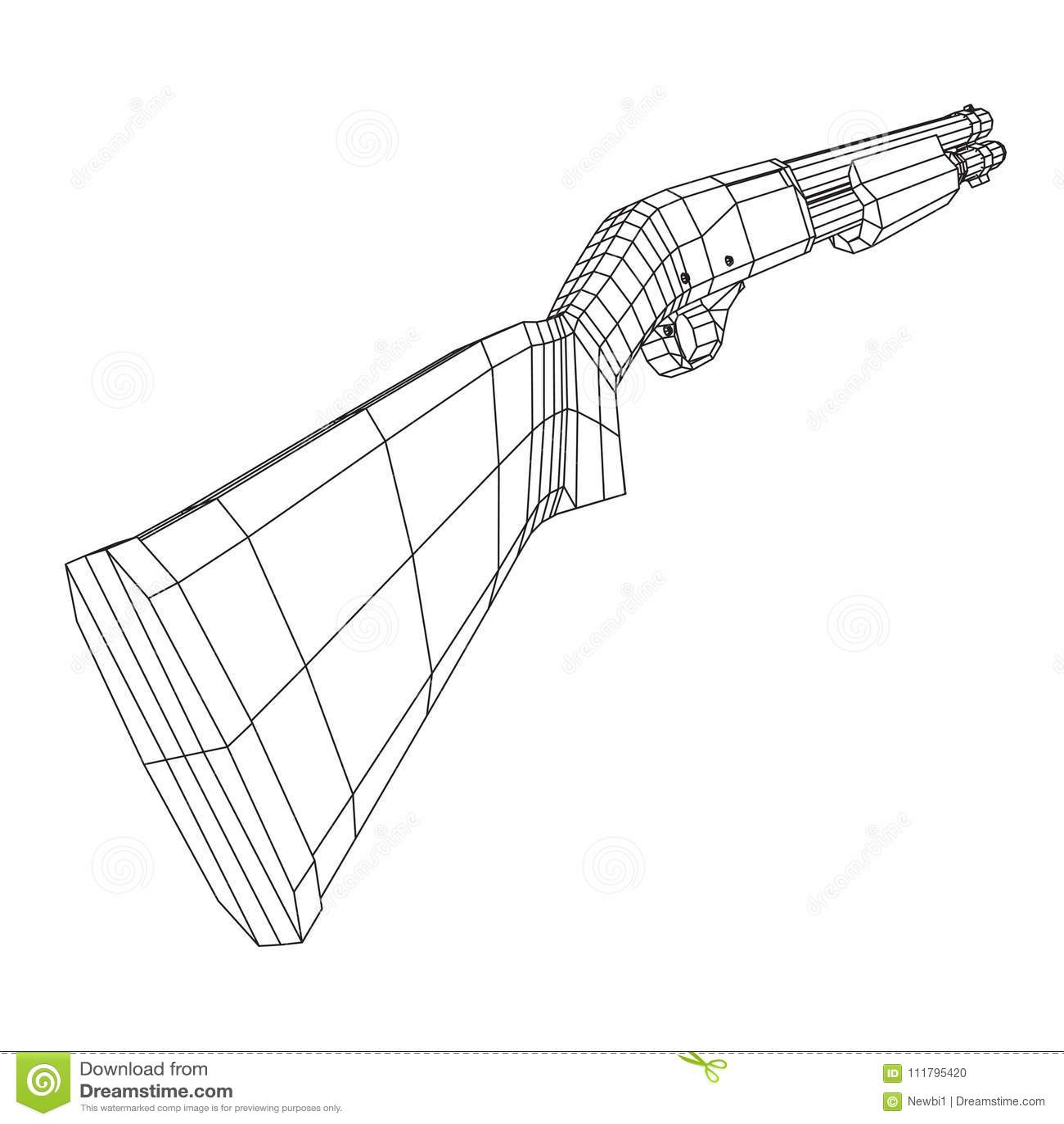 Shotgun Rifle Hunting Carbine Stock Vector