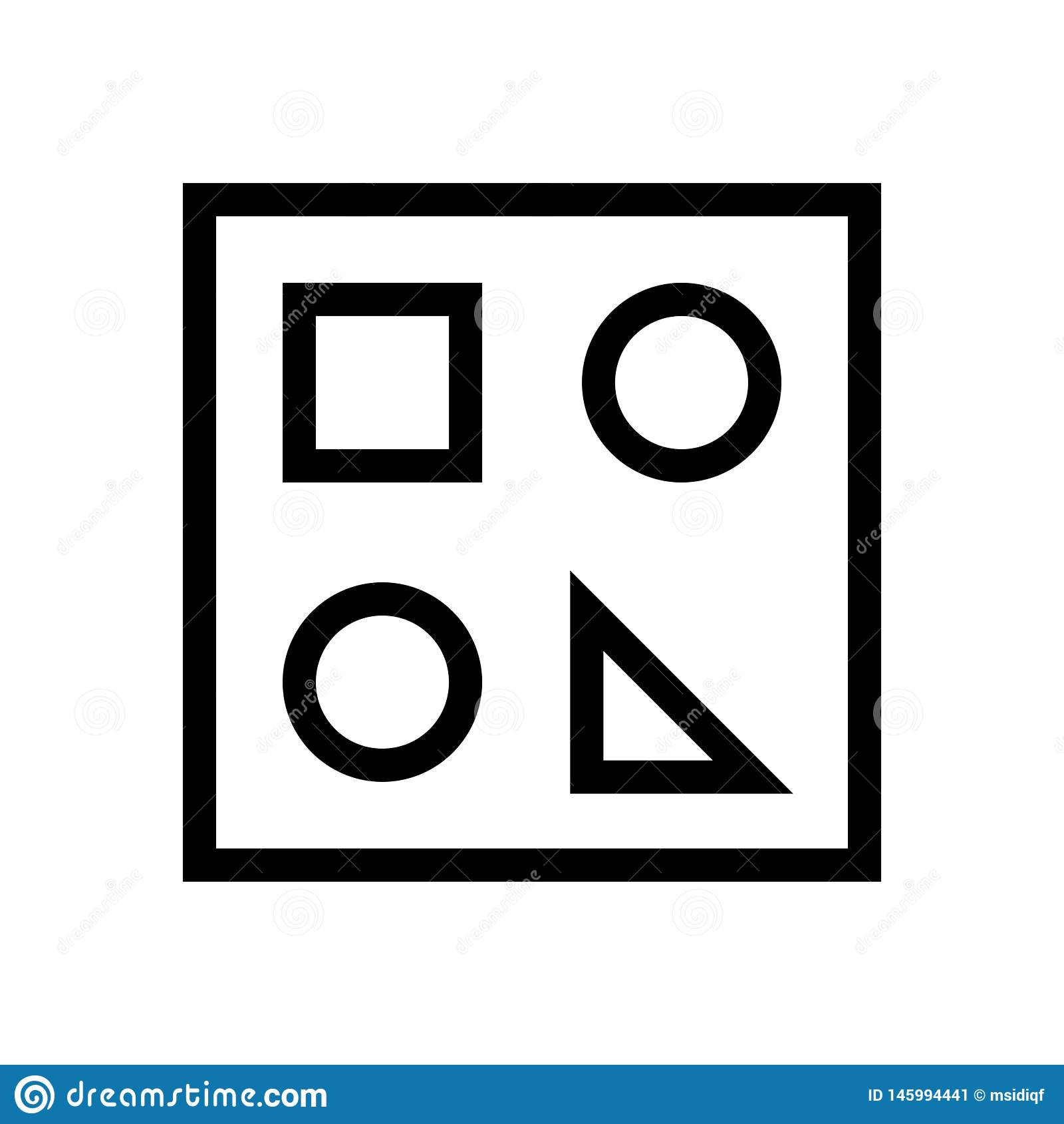 Show Draw Functions Document Icon Stock Vector