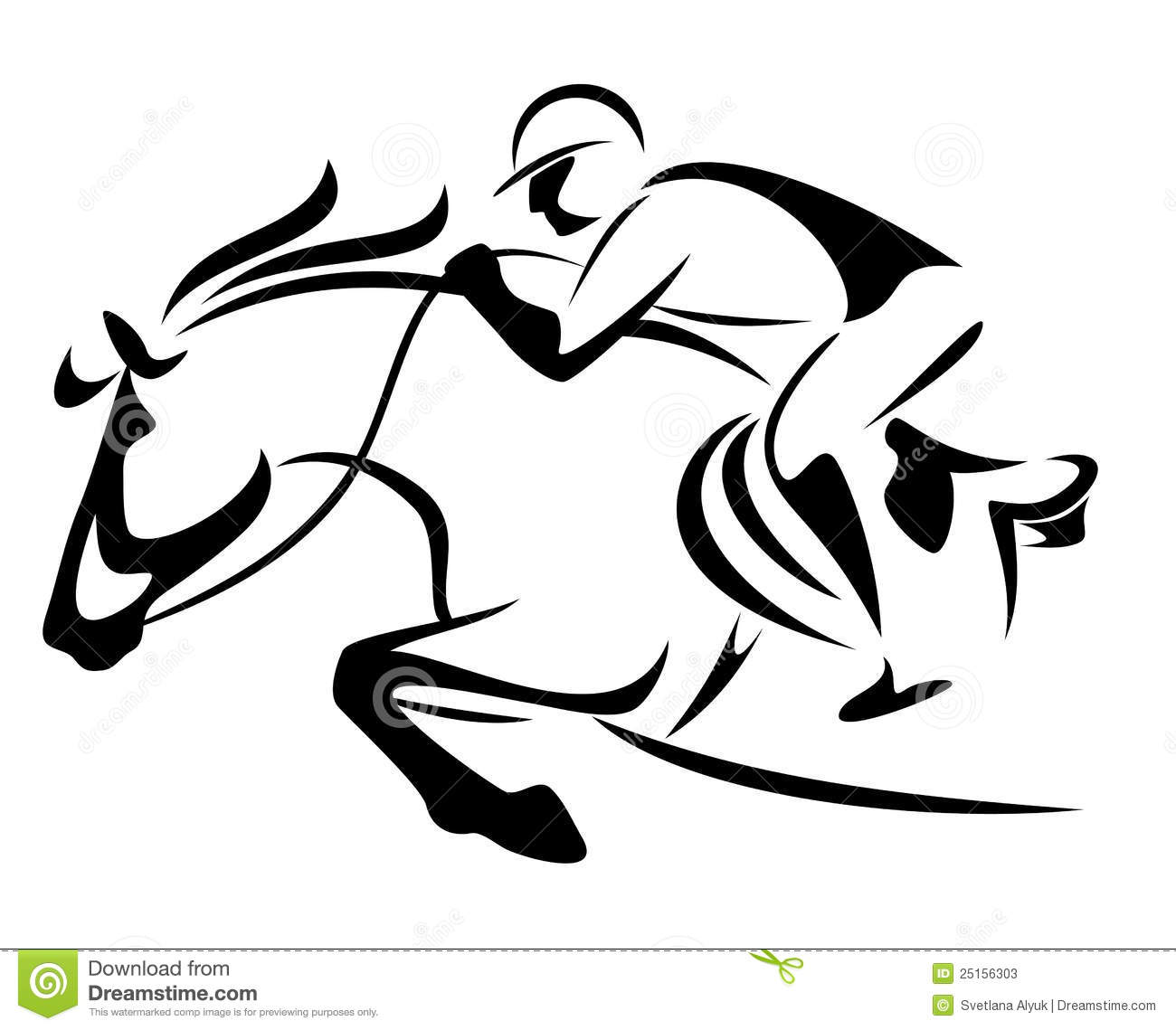 Show Jumping Vector Stock Photos