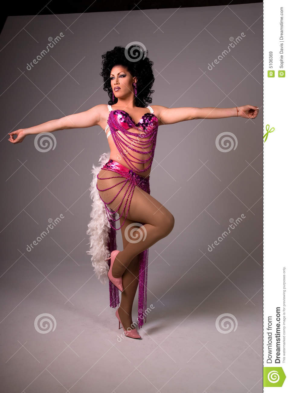 Showgirl Drag Queen Royalty Free Stock Images Image
