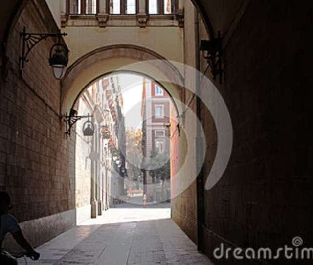 A Side Street In The Gothic Quarter Barcelona