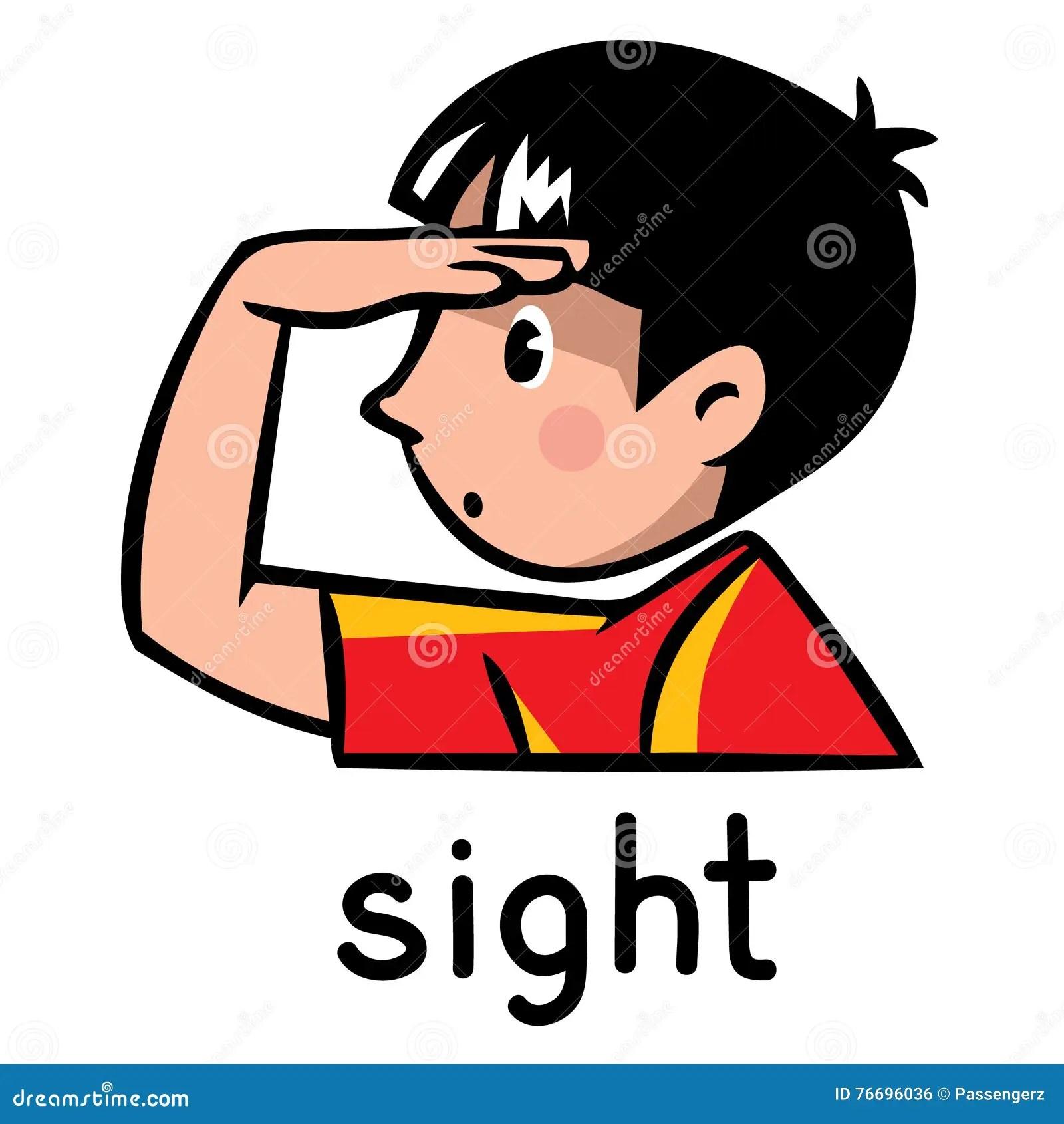 Sight Sense Icon Stock Vector Illustration Of Male Pictograph