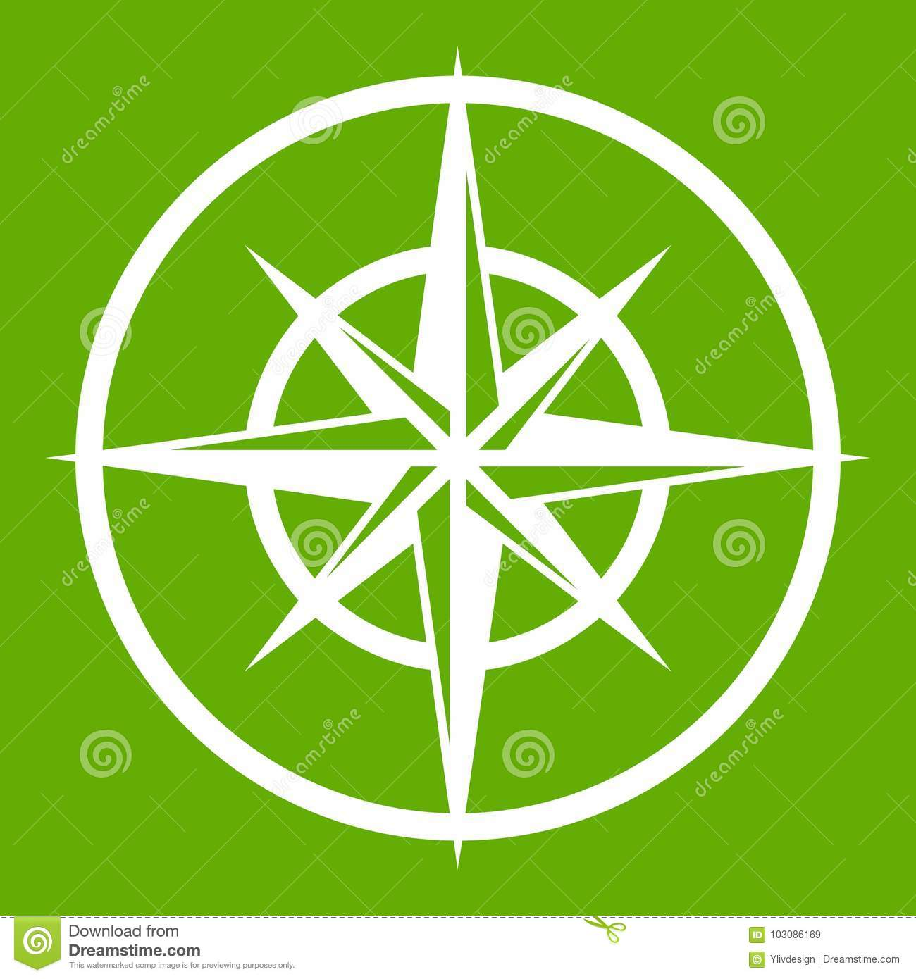 Sign Of Compass To Determine Cardinal Directions Stock