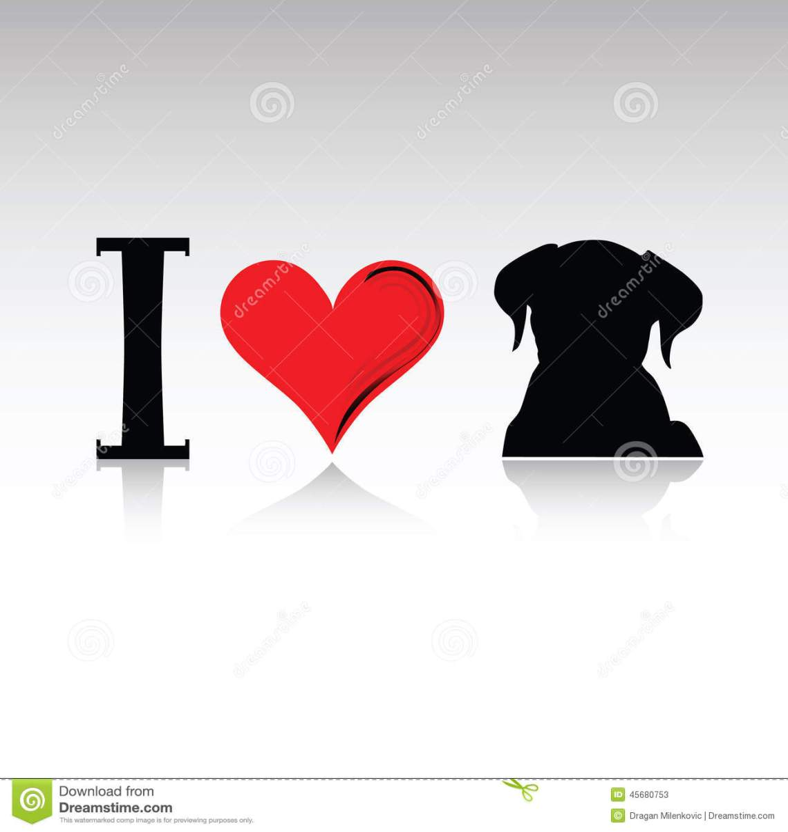 Download Sign I Love Dog Vector Illustration Stock Vector ...