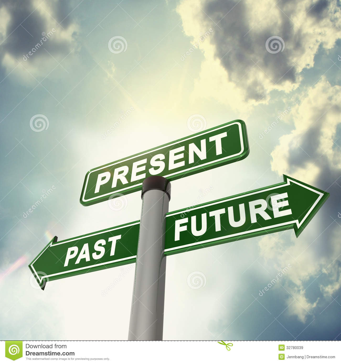 Signboard Past Present Future Stock Illustrations 47