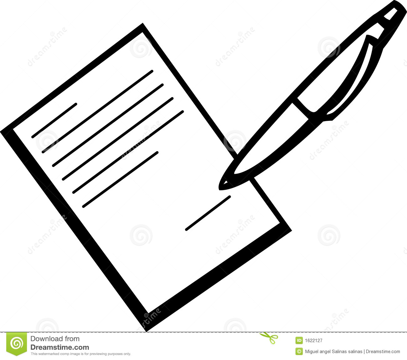 Signing A Document Vector Illustration Stock Vector