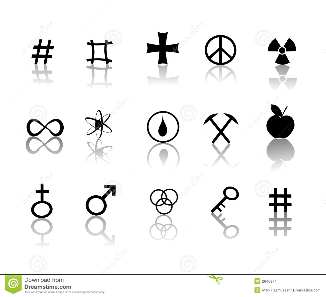 Signs And Symbols Icons Set Stock Images