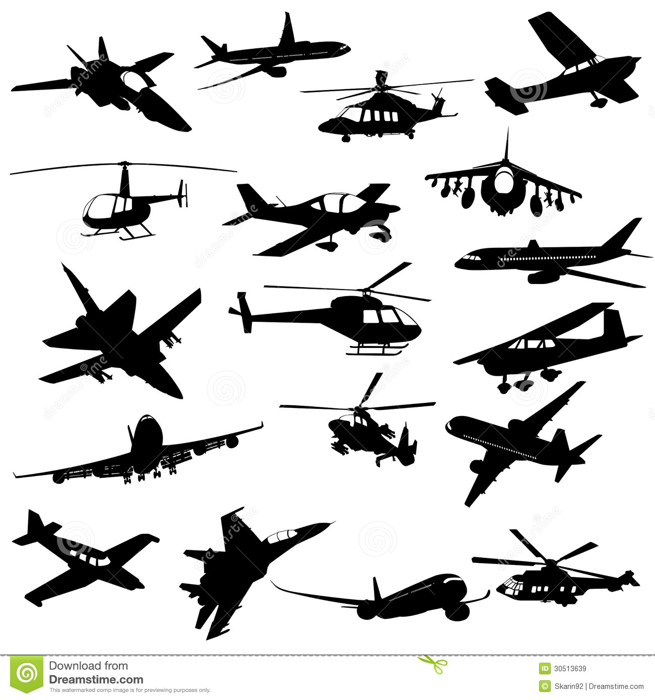 Silhouette Aviation Royalty Free Stock Images