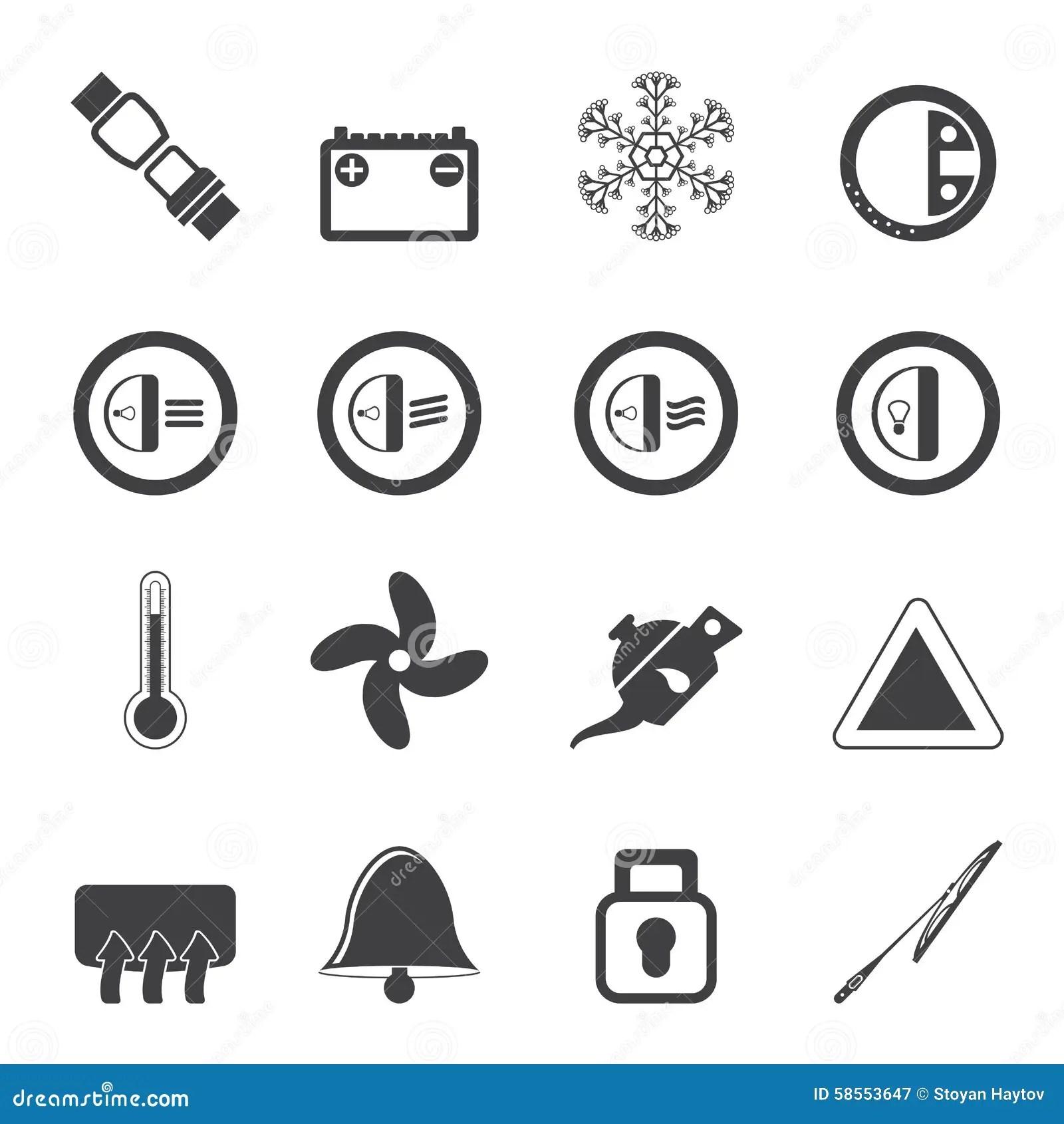 Dashboard Icons Vector Illustration