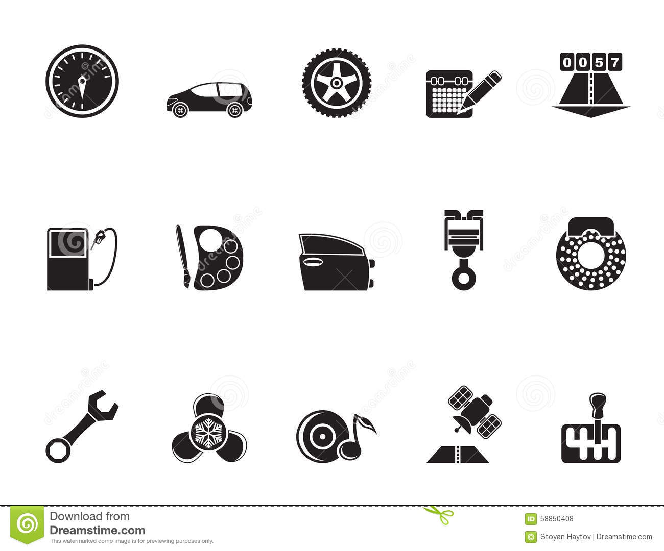 Car And Road Services Icons Vector Illustration