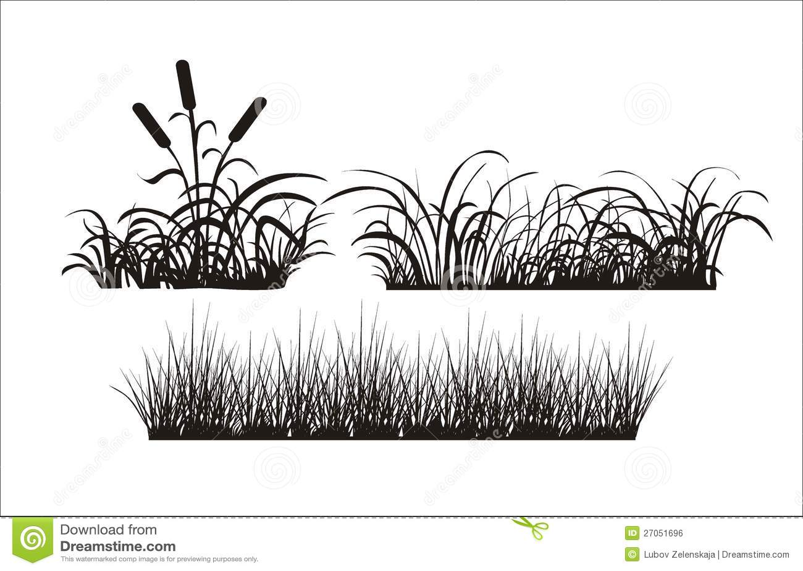 Silhouette D Herbe Illustration De Vecteur Illustration