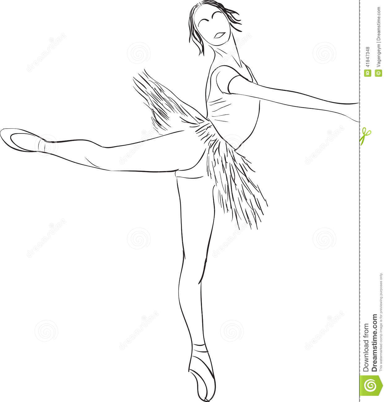 Silhouette Of Dancer Stock Vector Image Of Computer
