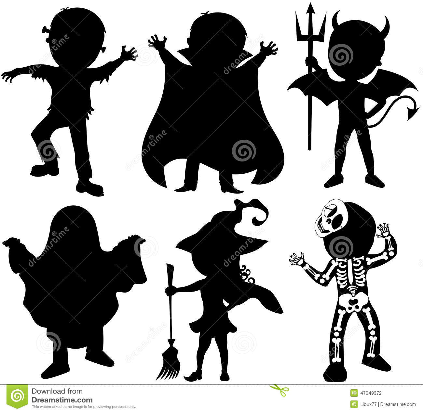 Halloween Party Clip Art Trick