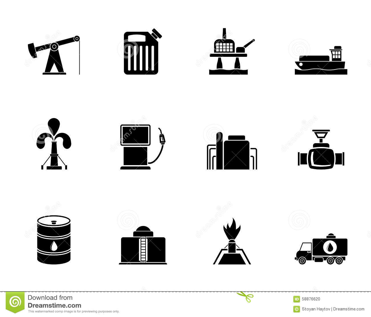 Petrol Pump Vector Icons Cartoon Vector