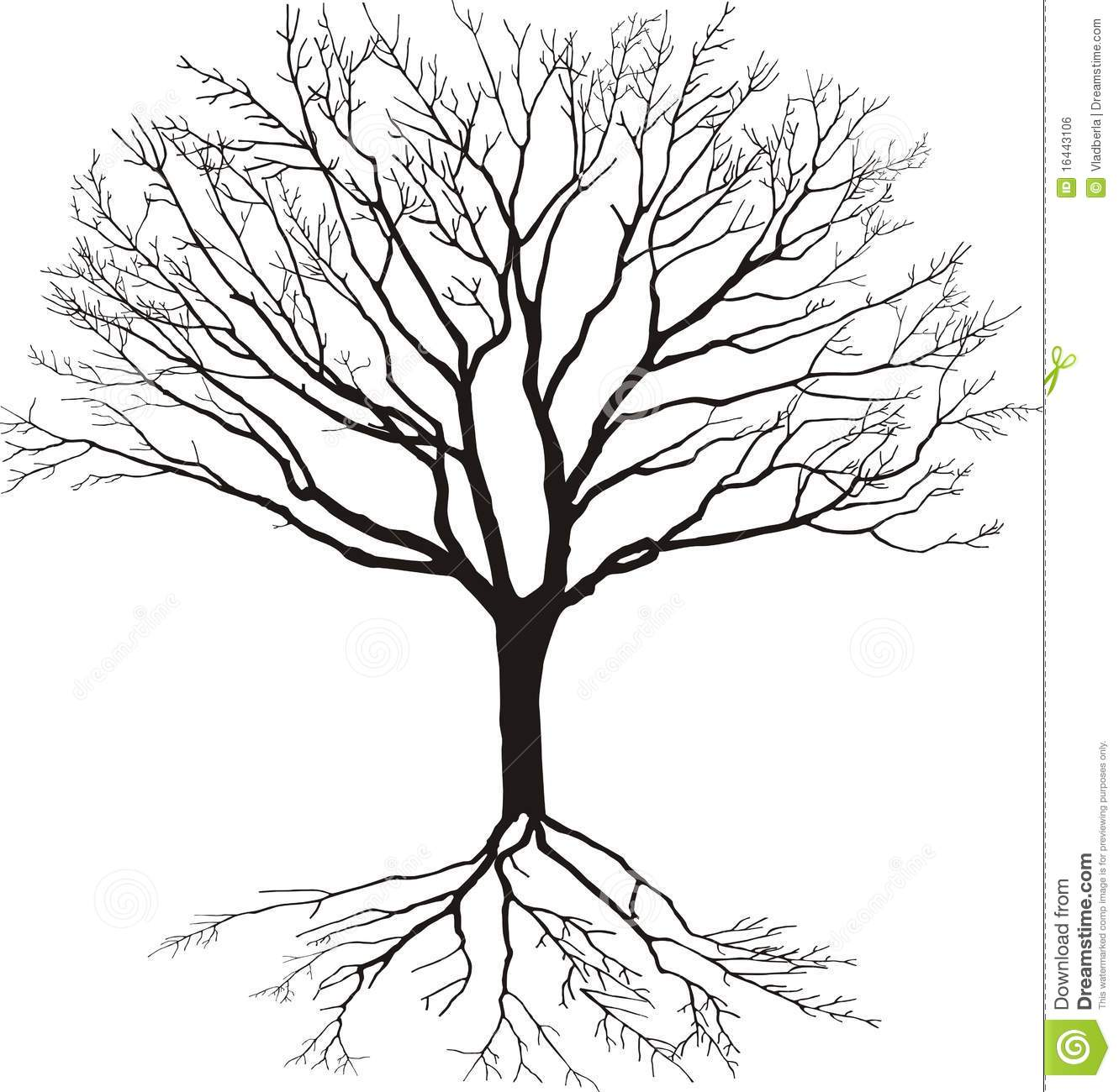 Silhouette Of Tree Royalty Free Stock Image