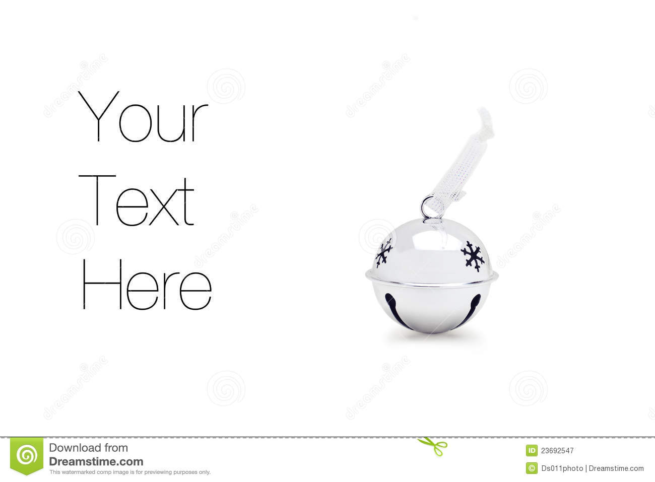 Silver Jingle Bell Royalty Free Stock Photography