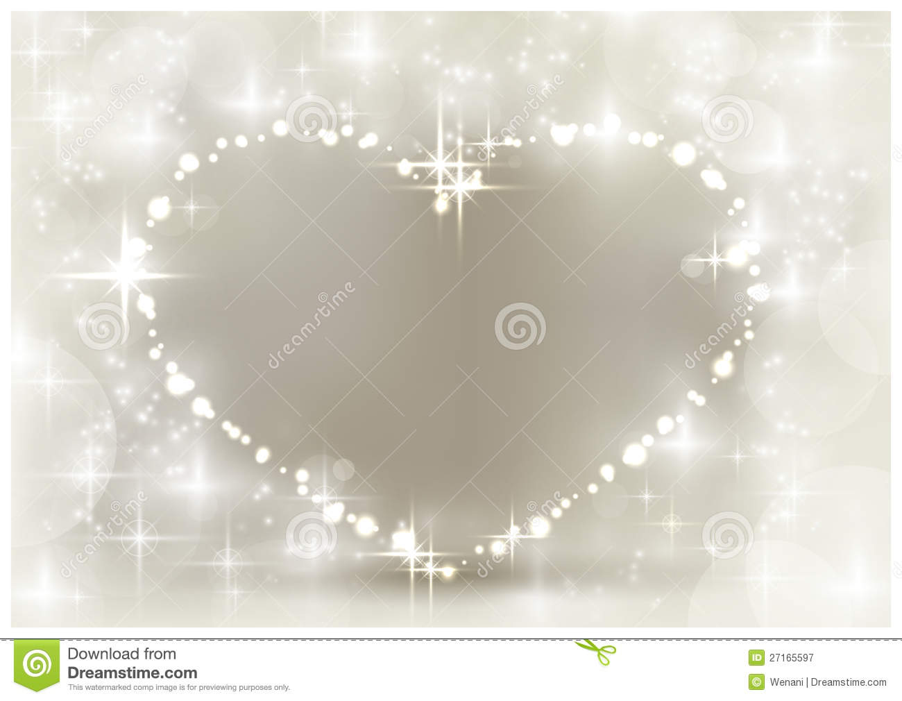 Silver Sparkling Christmas Heart Royalty Free Stock