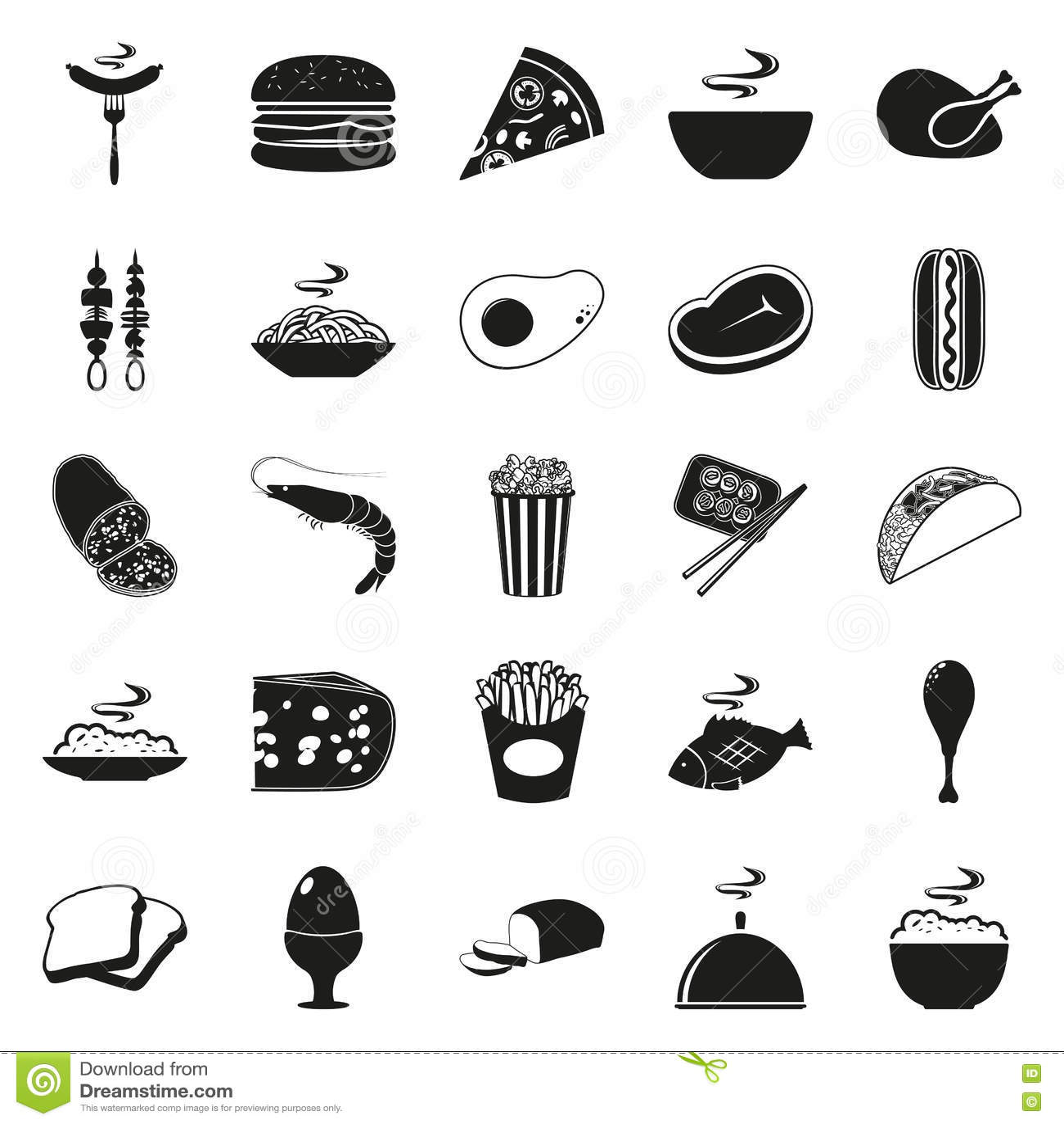 Simple Burger Icon Royalty Free Cartoon