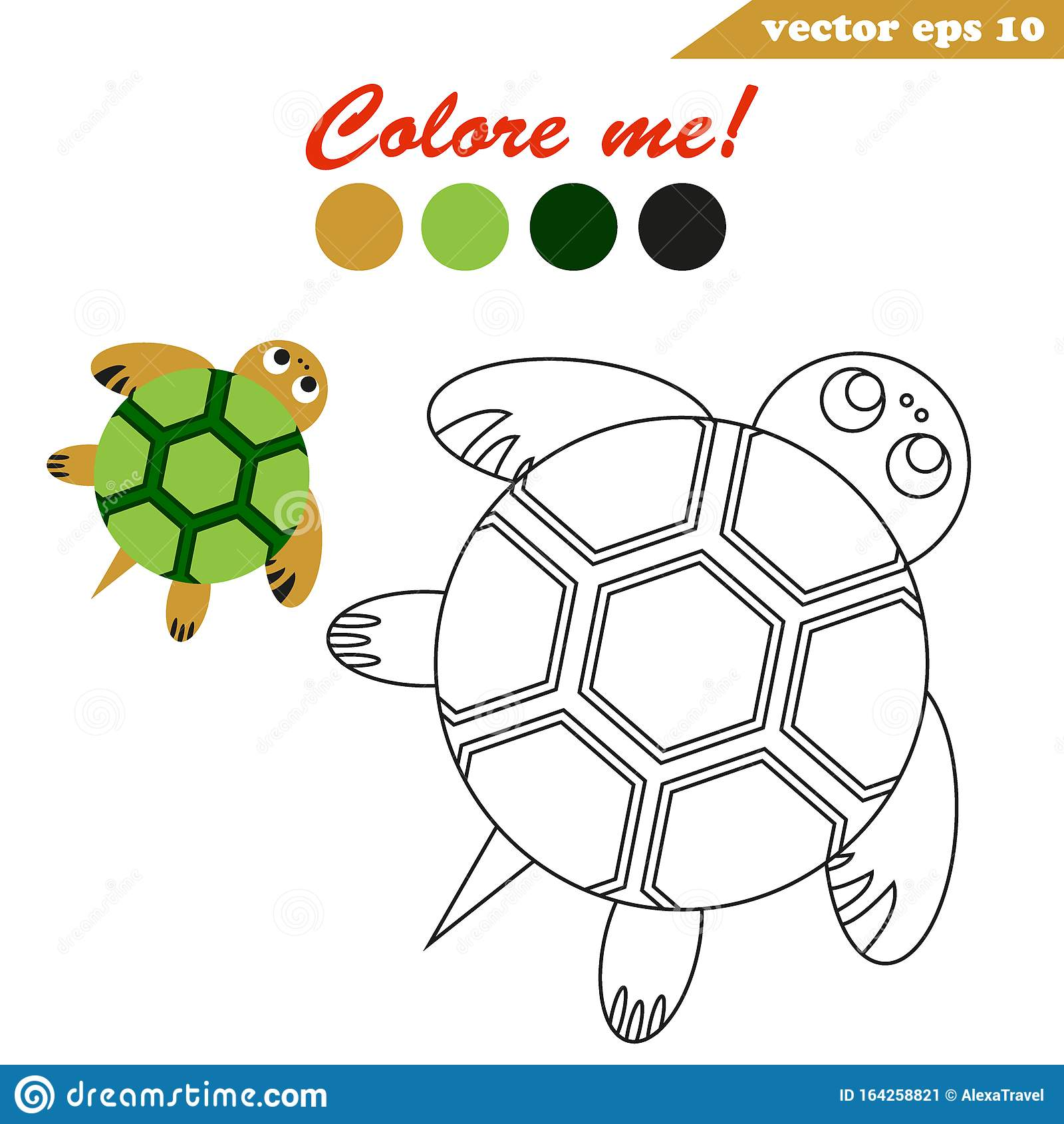 Easy Turtle Maze Cartoon Vector