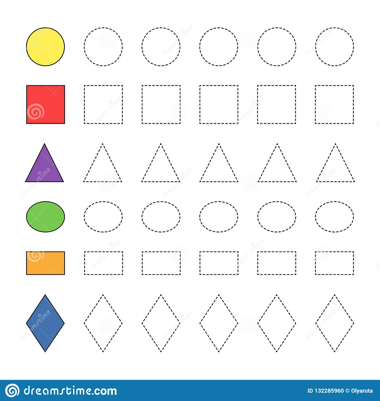 Simple Educational Game With Different Geometric Figures