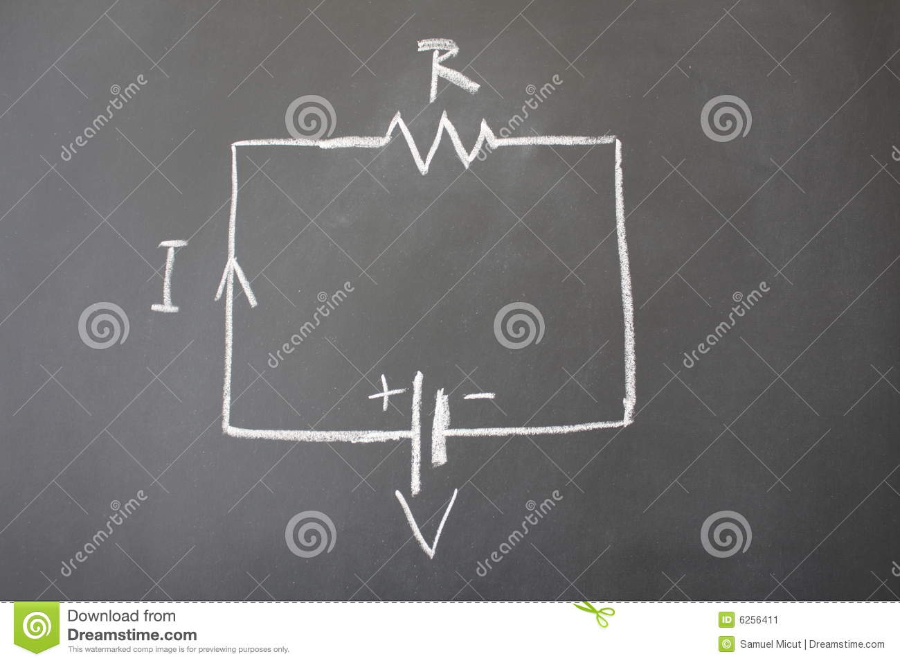 Simple Electrical Circuit Stock Image Image Of College