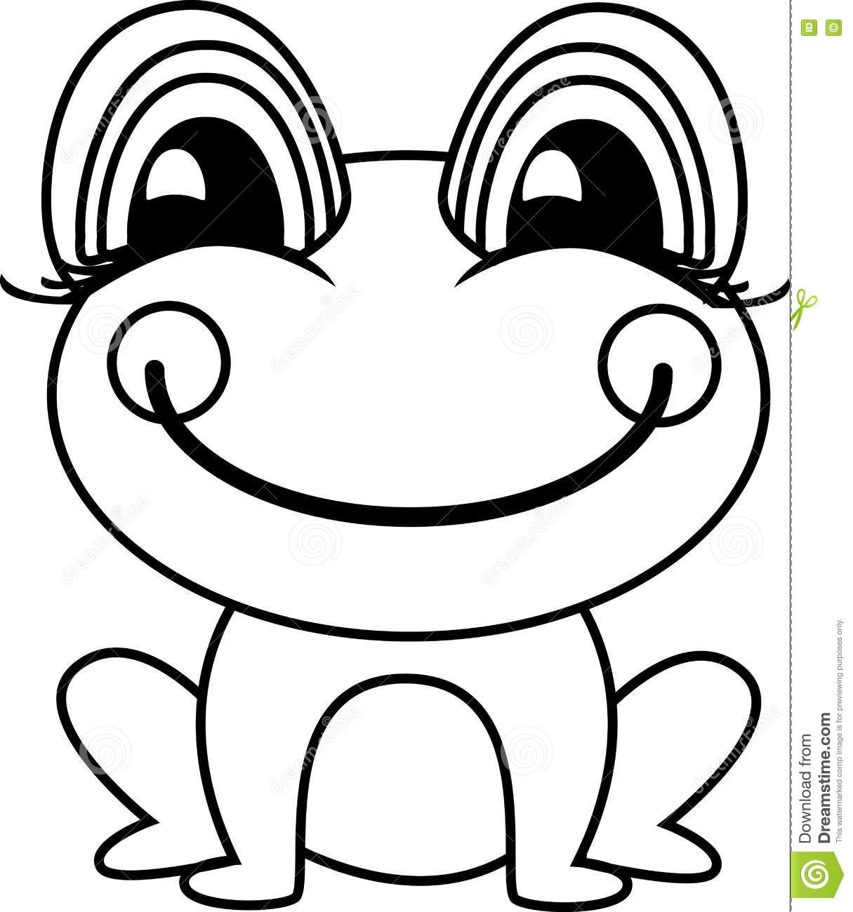 Simple Frog Or Toad Vector Illustration Stock Illustration