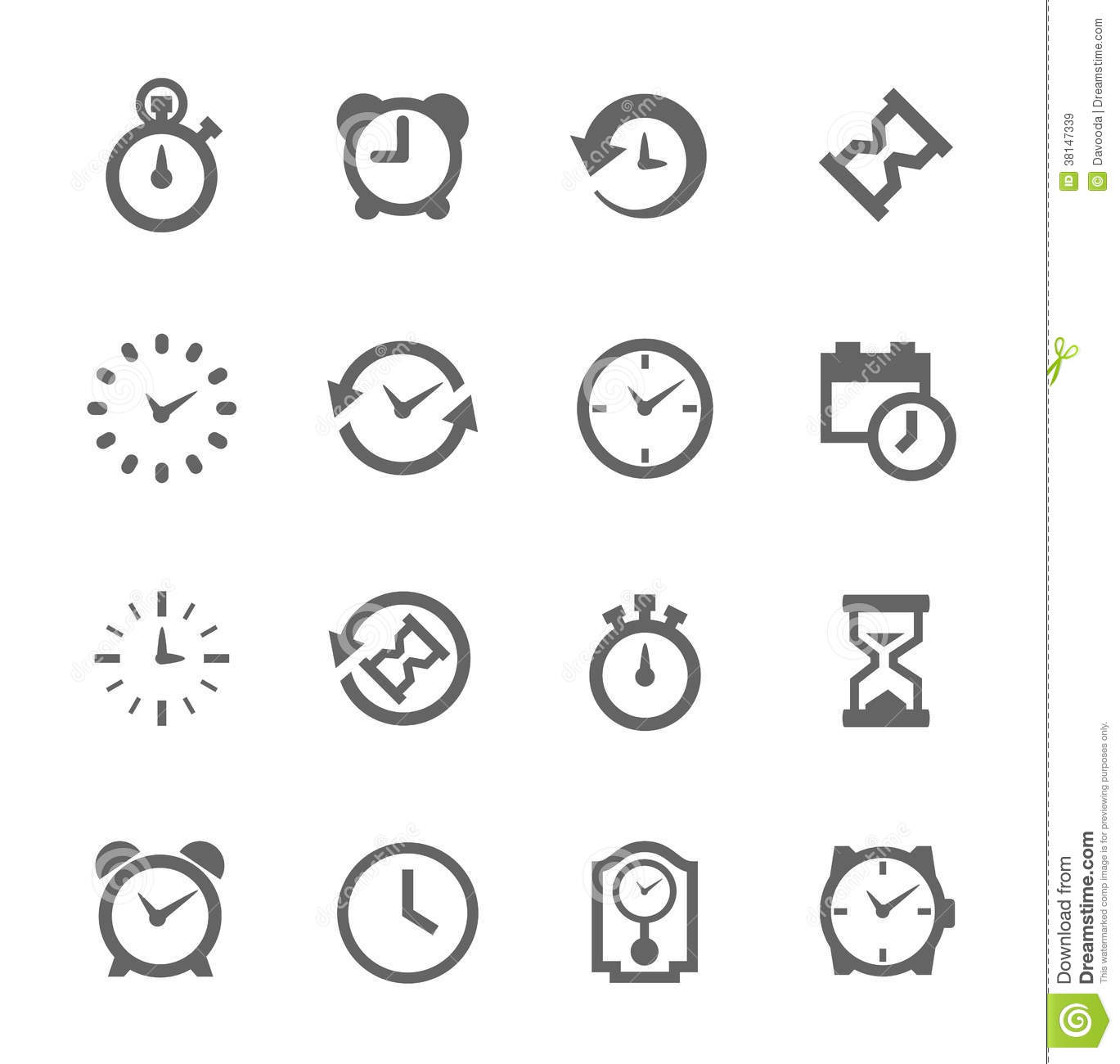 Simple Icon Set Related To Time Royalty Free Stock Images
