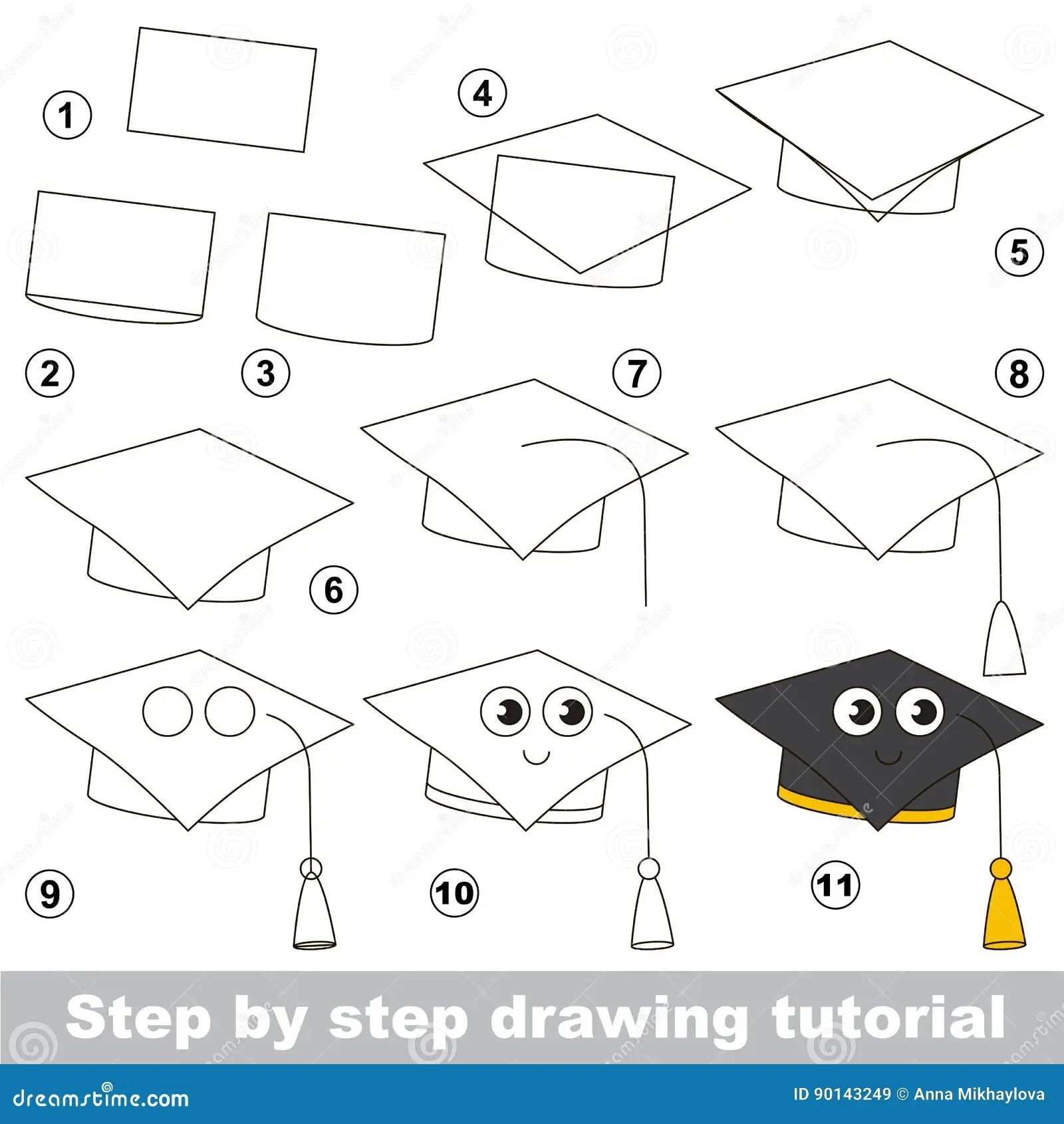 Simple Kid Educational Game Drawing Tutorial Stock