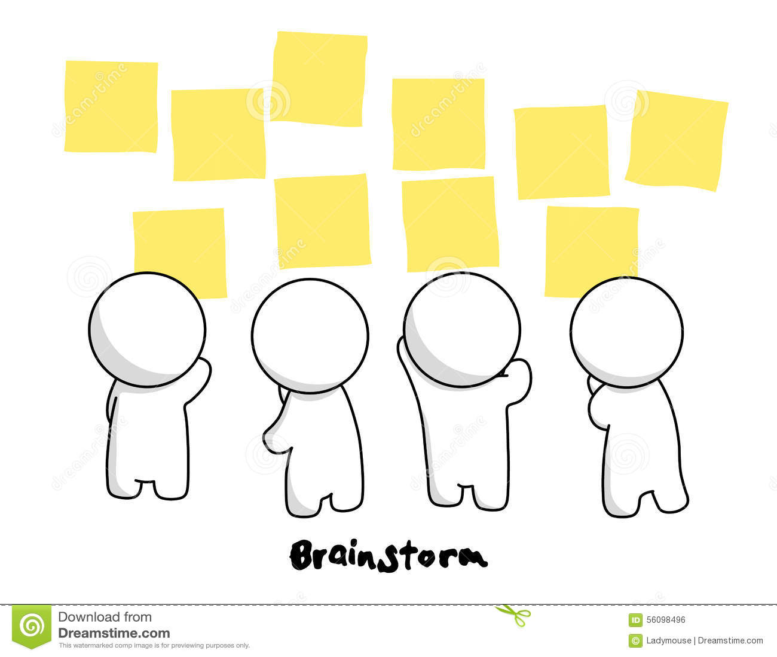 Mrmple In Brainstorm Action Stock Vector
