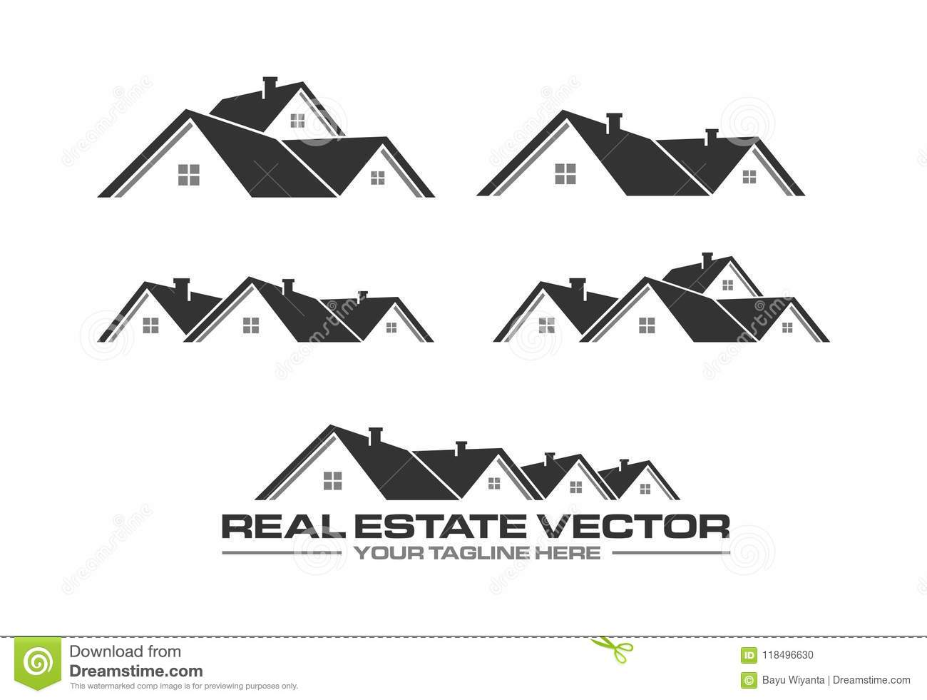 Real Estate Vector Roof Vector Real Estate Logo Roofing