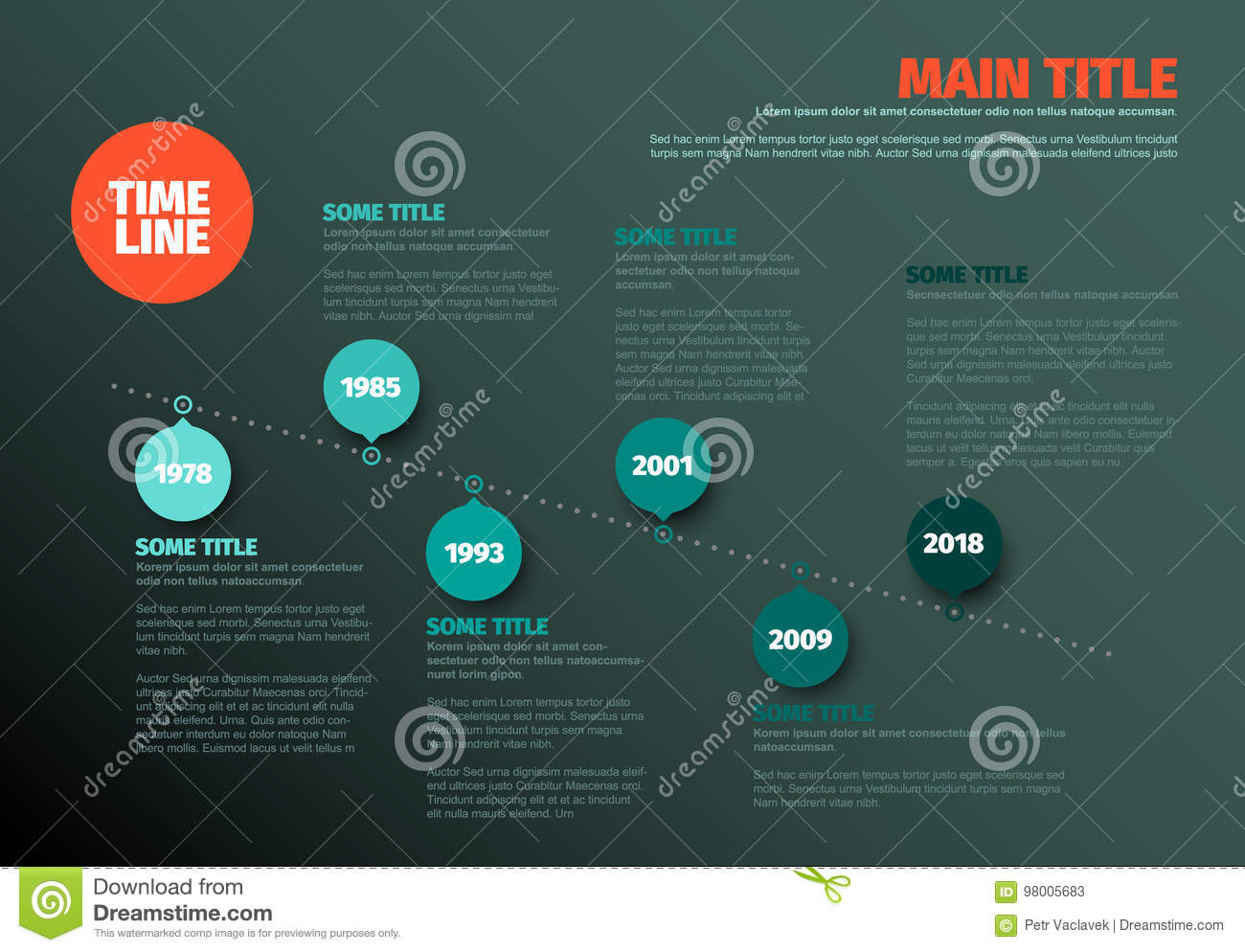 Simple timeline template stock vector  Illustration of layout   98005683 Download Simple timeline template stock vector  Illustration of layout    98005683