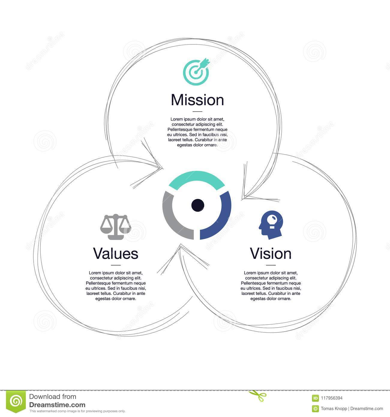 Simple Visualization For Mission Vision And Values