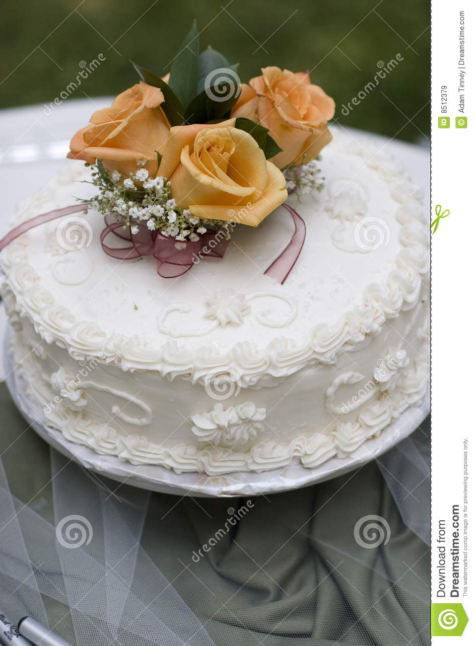Simple Wedding Cake Stock Image Image Of Happiness